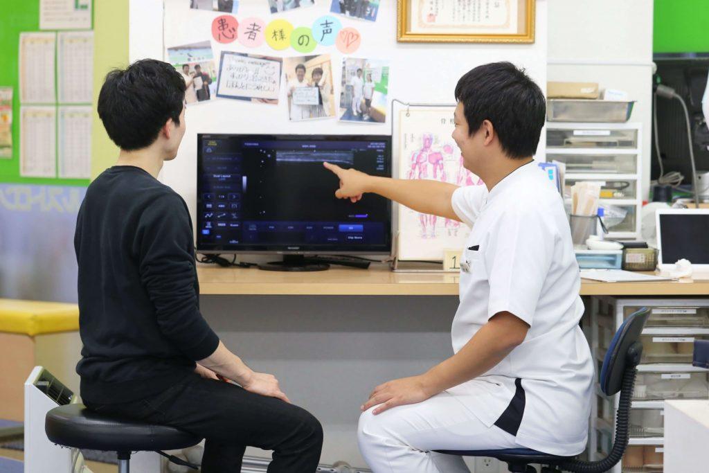 よし鍼灸接骨院エコー検査イメージ